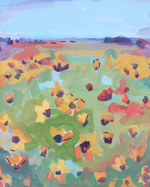 Floral Land: Art Print