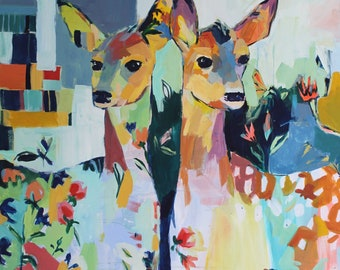 Wonder to Behold: Large Original with 2 Deer