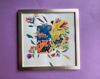 Room to Play, Original Mixed Media Watercolor