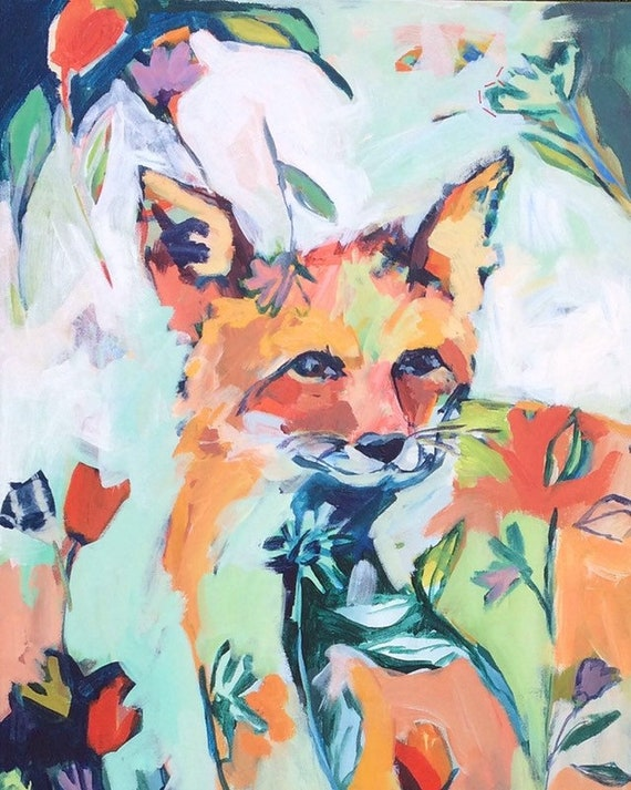 Hide and Seek: Fox Art Print