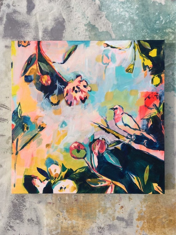 Summer's Song: Acrylic Painting on Stretched Canvas