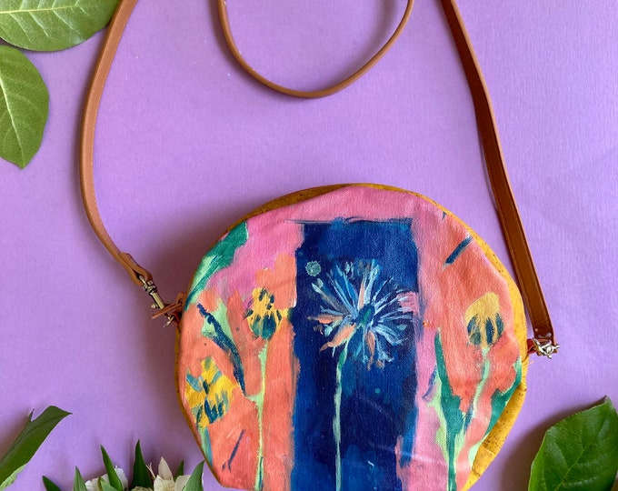 Featured listing image: Wonder in Little Things, Purse with Original Painting of Dandelion