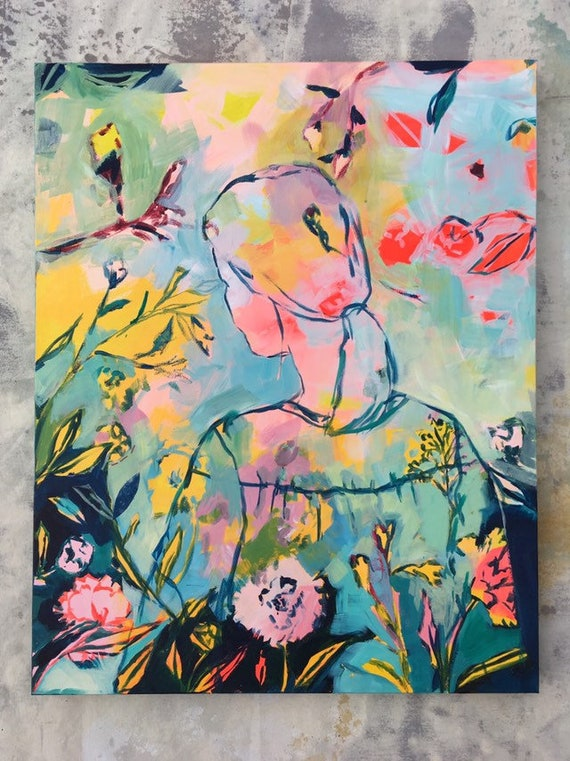 Abundance: Acrylic Painting on Stretched Canvas