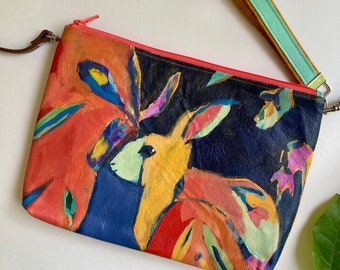 Optimist, Purse with Original Painting of Bunny
