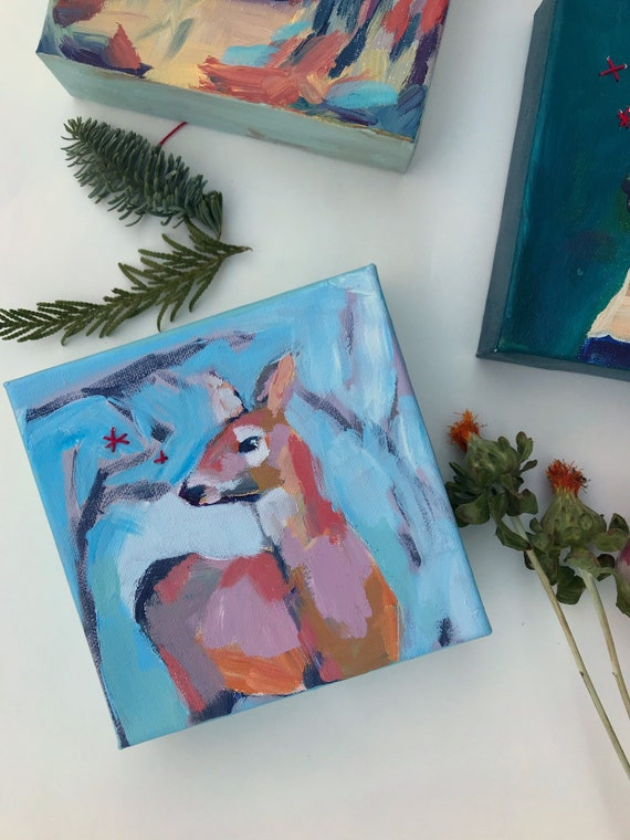 Winter Doe: Deer Painting