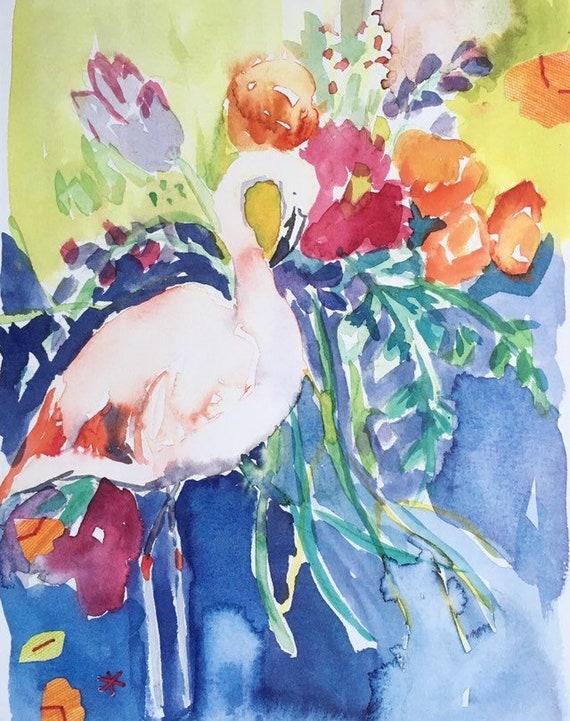 Pink Flamingo: Art Print