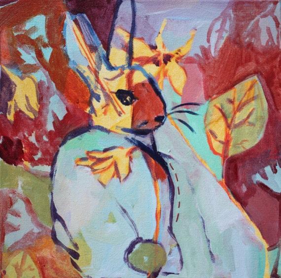 Original Painting: Spring Bunny