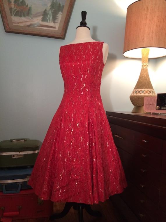 1950's Pinup Swing Dress