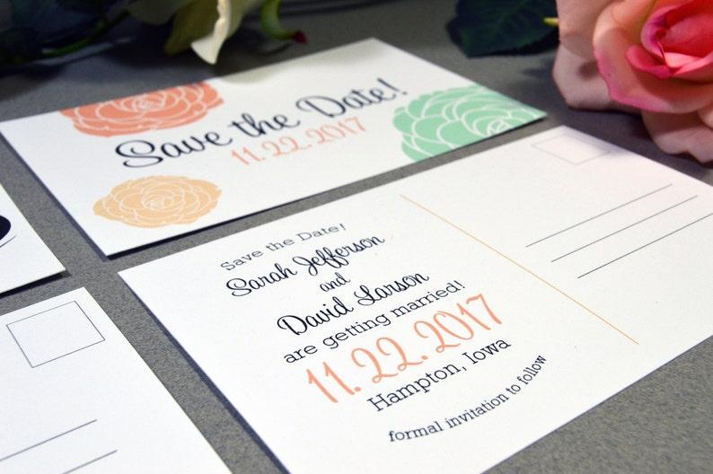 Custom Save the Date Save the Date Postcards Invitation Postcard Printable DIY or Printed Wedding Save the Dates Save the Date Invite