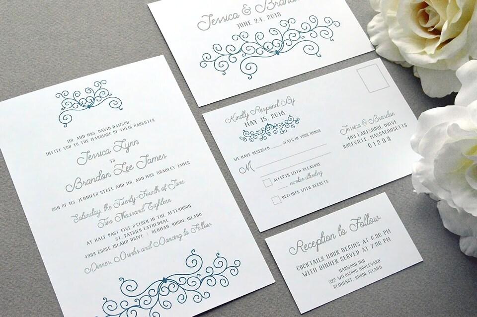 Rustic Romantic Wedding Invitations: Romantic Wedding Invitations Rustic Wedding Invitation