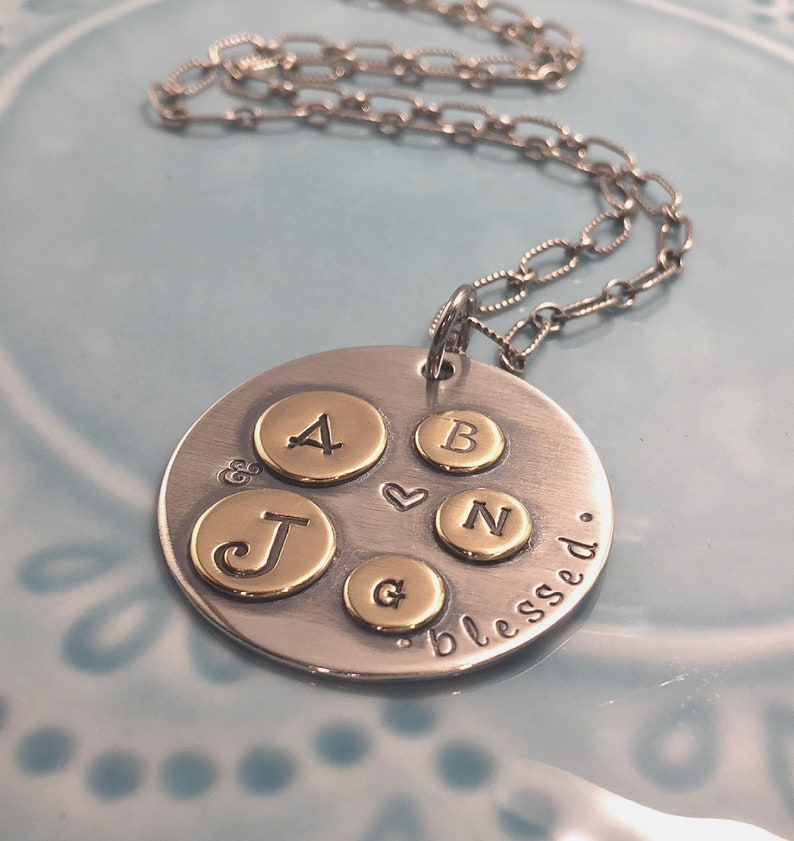Mother's Necklace  Blessed Jewelry  Family Pendant  image 0