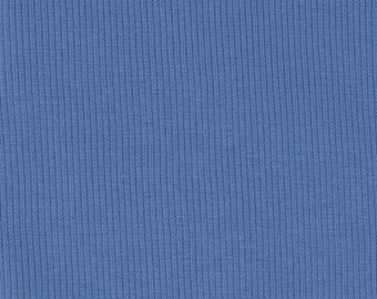 Organic KNIT Fabric - Birch Regatta Ribbed Knit