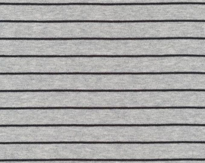Organic KNIT Fabric - Cloud9 2017 Knits - Stripes Heather Gray