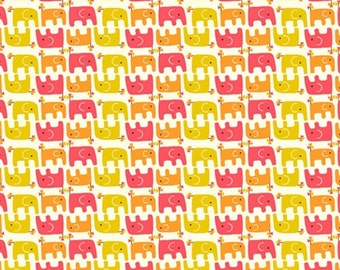 Organic Cotton Fabric - Birch Frolic - Ellie Stagger Girl