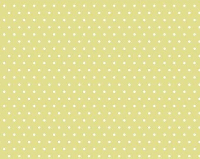 Organic KNIT Fabric - Cloud9 Tout Petit - Polka Dots Green