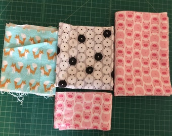 Scrap Pack - Organic Flannel Fabric