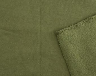 Organic Cotton Fleece - Birch Organic Fleece Solids - Jungle Green