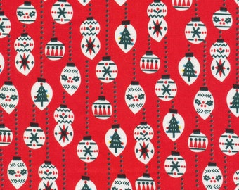 Organic Cotton Fabric - Cloud9 Noel - Christmas Balls
