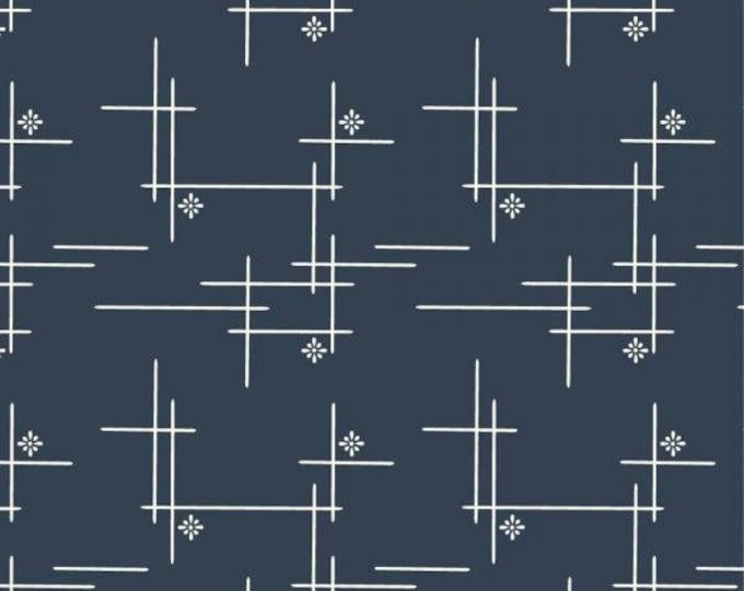 Organic Canvas Fabric - Birch Merryweather Canvas- Merry Hatch in Dusk Canvas