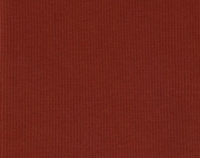Organic KNIT Fabric - Birch Brick Ribbed Knit