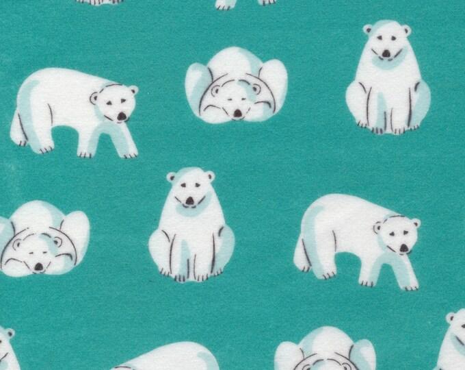 Cloud9 Northerly Organic Flannel - Polar Bears Teal