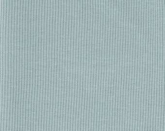 Organic KNIT Fabric - Birch Mineral Ribbed Knit