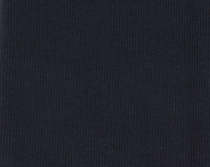 Organic KNIT Fabric - Birch Dusk Ribbed Knit