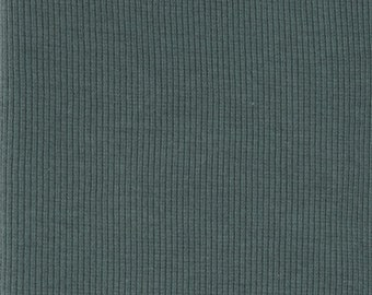 Organic KNIT Fabric - Birch Slate Ribbed Knit