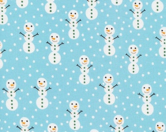 Organic Cotton Fabric - Cloud9 Noel - Hello Snowmen