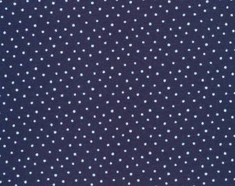 Organic KNIT Fabric - Cloud9 Knits - Dots Navy