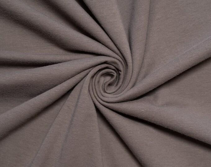 Birch Organic Jersey Knit Solids - Charcoal Knit