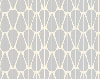 1/2 Yard Organic CANVAS - Monaluna Westwood Canvas - Little Leaves Grey