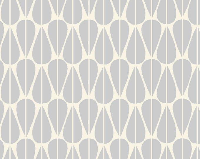 1/2 Yard Organic CANVAS - Monaluna Westwood Canvas - Little Leaves Grey