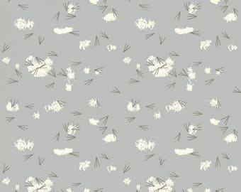 Organic KNIT Fabric - Charley Harper Western Birds - Tracks Haze Knit