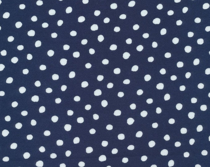 Featured listing image: OrganicKnit Fabric - Cloud9 Knits - Dots Navy