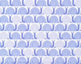 Organic FLANNEL Fabric - Cloud9 Field Day Flannel - Snail's Pace Blue