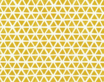 Organic KNIT Fabric - Cloud9 2017 Knits - Triangles Citron