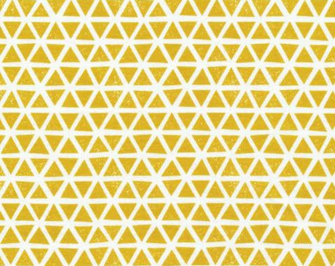 Organic KNIT Fabric - Cloud9 Knits - Triangles Citron
