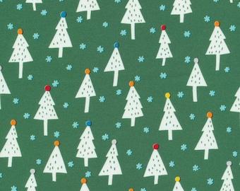 Organic Cotton Fabric - Cloud9 Noel - Snowy Trees