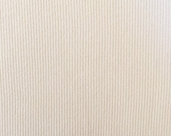 Organic KNIT Fabric - Birch Cream Ribbed Knit