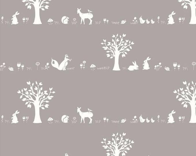 Organic KNIT Fabric - Birch Storyboek - Forest Friends Shroom Knit