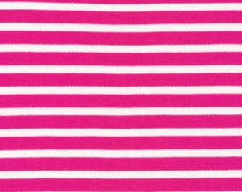 Organic KNIT Fabric - Cloud9 Knits - Colorful Stripes Pink