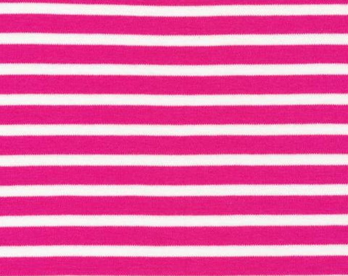 Organic KNIT Fabric - Cloud9 2017 Knits - Colorful Stripes Pink
