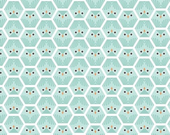 Organic FLANNEL Fabric - Cloud9 Dolittles Flannel - Owl