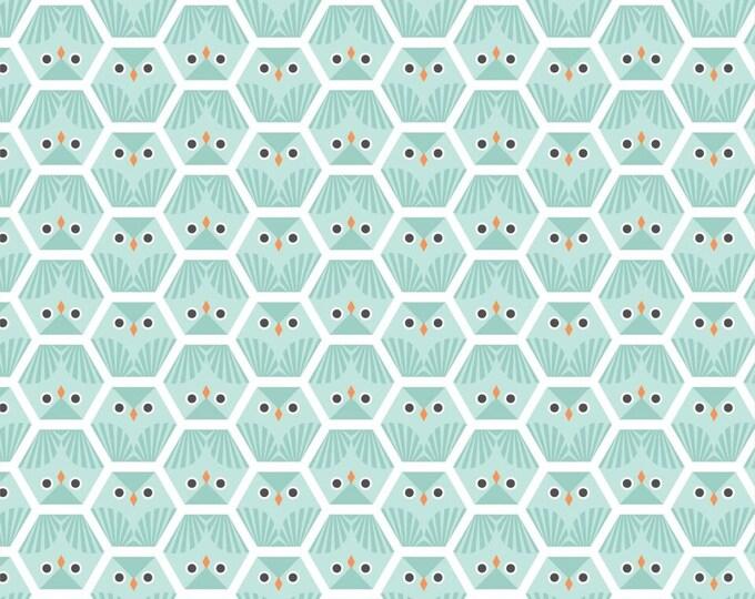 Organic FLANNEL Fabric - Cloud9 Dolittles Flannel - Owl