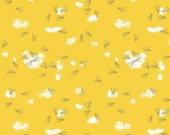 Organic KNIT Fabric - Charley Harper Western Birds - Tracks Sunny Knit