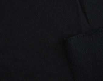 Organic Cotton Fleece - Birch Organic Fleece Solids - Black