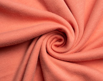 Organic KNIT Fabric - Birch Interlock Knit Soilds - Dusty Rose Solid