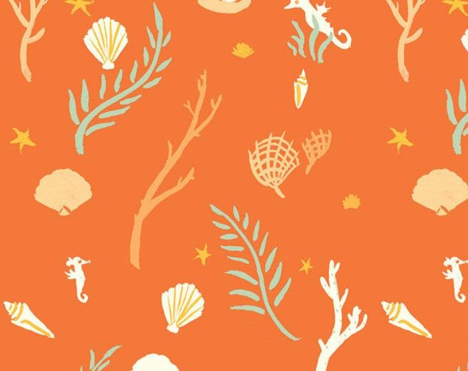 Organic KNIT Fabric - Birch Saltwater Knits - Flotsam & Jetsam Coral Knit