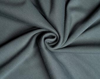Organic KNIT Fabric - Birch Knit Soilds - Slate Knit Solid